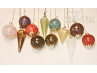 pendulums of natural stones. (4)