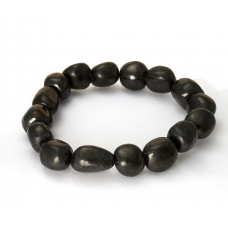 Shungite bracelet pebble polished 1-1,5 cm